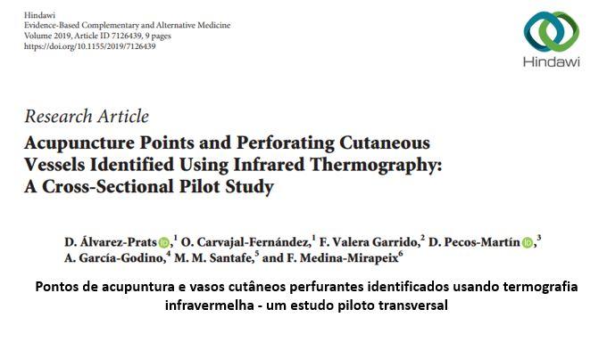 Pontos de acupuntura e vasos cutâneos perfurantes identificados usando termografia infravermelha – um estudo piloto transversal