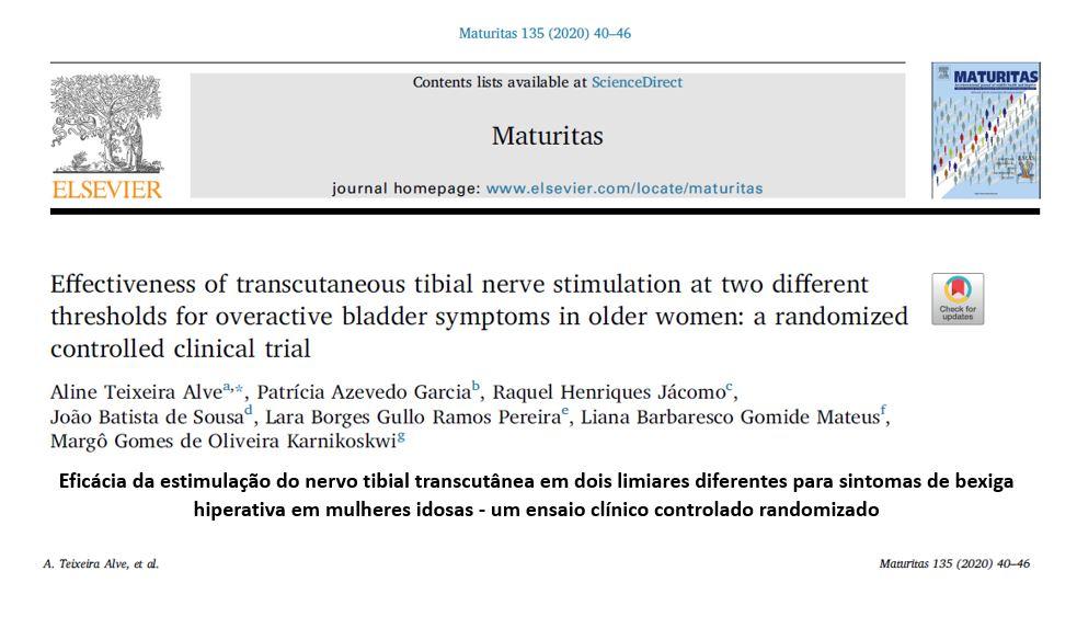 Eficácia da estimulação do nervo tibial transcutânea em dois limiares diferentes para sintomas de bexiga hiperativa em mulheres idosas – um ensaio clínico controlado randomizado