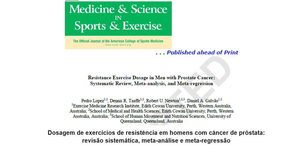Dosagem de exercícios de resistência em homens com câncer de próstata