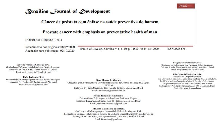 Câncer de próstata com ênfase na saúde preventiva do homem