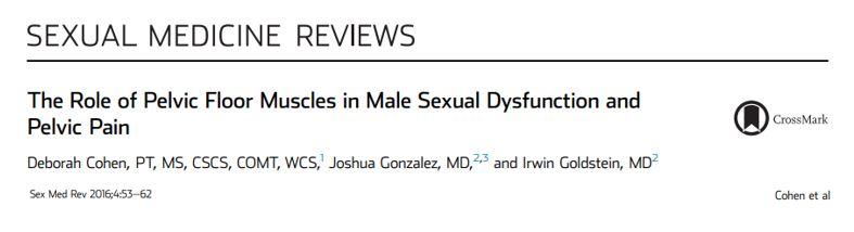 O papel dos músculos do assoalho pélvico na disfunção sexual masculina e na dor pélvica